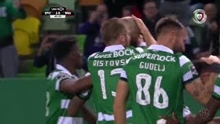 Goal   Golo Bas Dost (g.p.): Sporting (2)-0 Sp. Braga (Liga 18/19 #22)