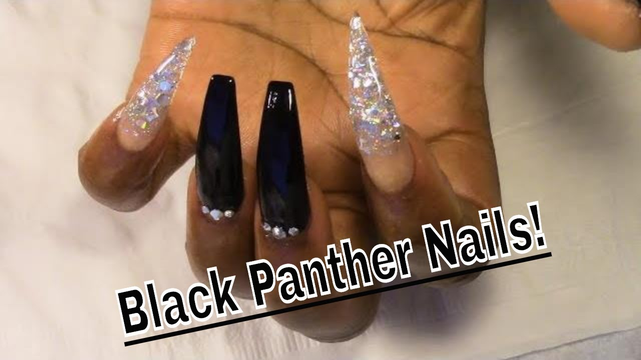 Black Panther Inspired | Coffin | Stiletto | Acrylic Nails ...