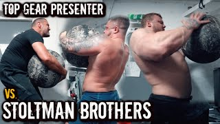 TOP GEAR PRESENTER TRIES STRONGMAN | Paddy McGuinness & Stoltman Brothers