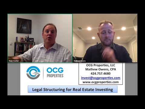"""OCG Properties WEBINAR on """"Legal Structuring for Real Estate Investing"""" 9.20.17"""