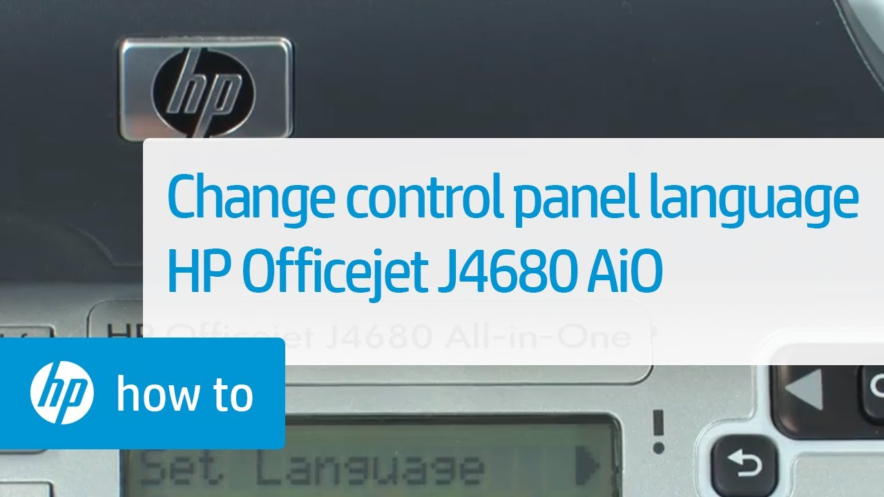 change the language on the control panel hp officejet j4680 all in rh youtube com HP Product Manuals hp j4680 all in one driver