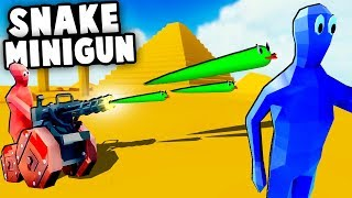 CRAZIEST New UNITS Yet! SNAKE MINIGUN and MORE In TABS! (Totally Accurate Battle Simulator Update)