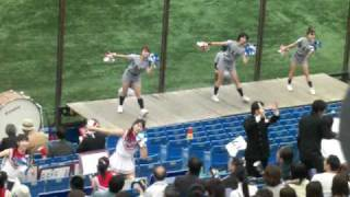 2009/5/16 東京六大学野球 慶應義塾大学応援風景 曲はセンチメンタルバ...
