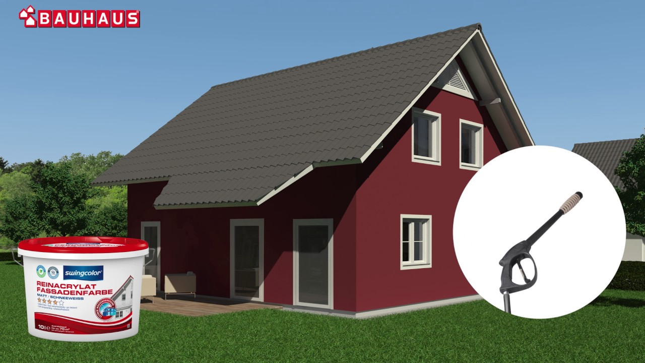 Relativ swingcolor Silikon-Fassadenfarbe (Weiß, 10 l, Matt) | BAUHAUS WQ99