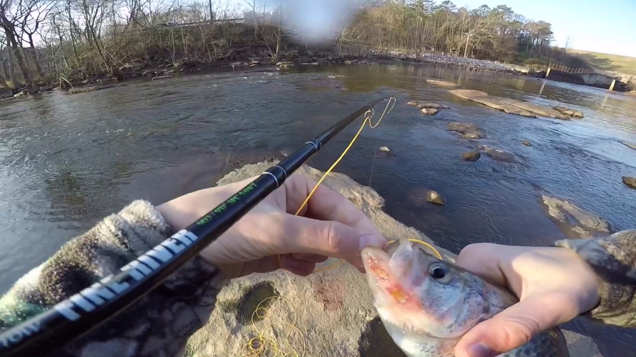 Fly fishing for crappie in the neuse river first fish on for Neuse river fishing