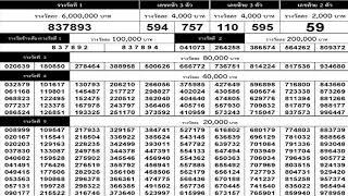 ใบตรวจหวย 1 ตุลาคม 2563 เรียงเบอร์ ตรวจรางวัลสลากกินแบ่งรัฐบาล 01/10/63