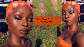 MY FALL FOUNDATION ROUTINE | GLOWING SKIN