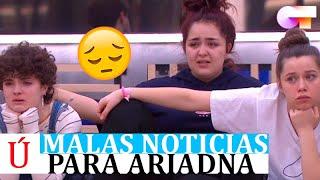 Terribles noticias para Ariadna a escasa horas para la Gala 2 de OT 2020
