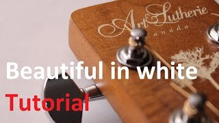 Beautiful in white - guitar tutorial