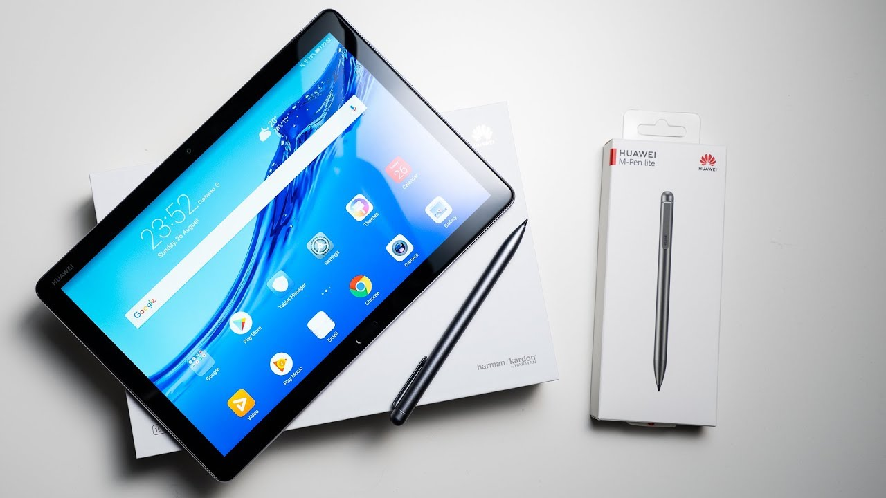 M-Pen Lite Stylus Included Quick Charge Space Gray Quad Harman Kardon-Tuned Speakers 3GB+32GB Octa Core Huawei MediaPad M5 Lite Android Tablet with 10.1 FHD Display WiFi Only US Warranty