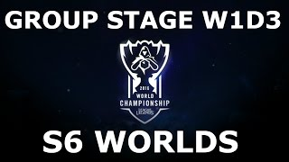 Week 1 Day 3 of S6 LoL eSports World Championship 2016 Group Stage! Full Day All Games #Worlds 2016