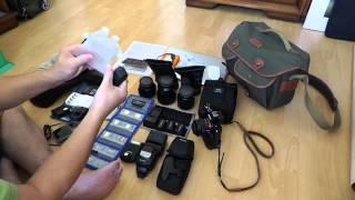 Soạn đồ máy ảnh cho một chuyến đi sáng tác
