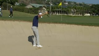 Justin Rose shows off his fantastic bunker skills at Sony Open