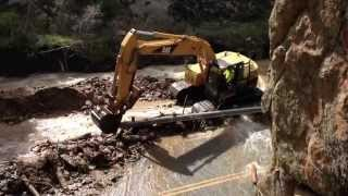 Boulder Colorado Flood 2013 Help has arrived!  4 mile canyon pt 4