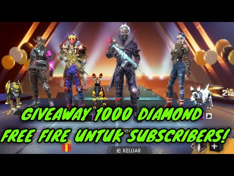 🔴 [LIVE] GIVEAWAY 1000 DIAMOND FREE FIRE SYARAT SUBSCRIBE!!! FREE FIRE