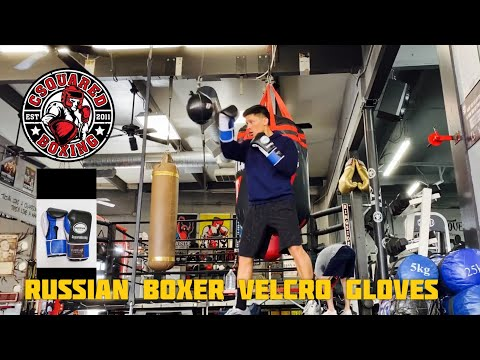 DOUBLE END BAG/ HEAVY BAG TRAINING- Russian Boxer Velcro Training Gloves