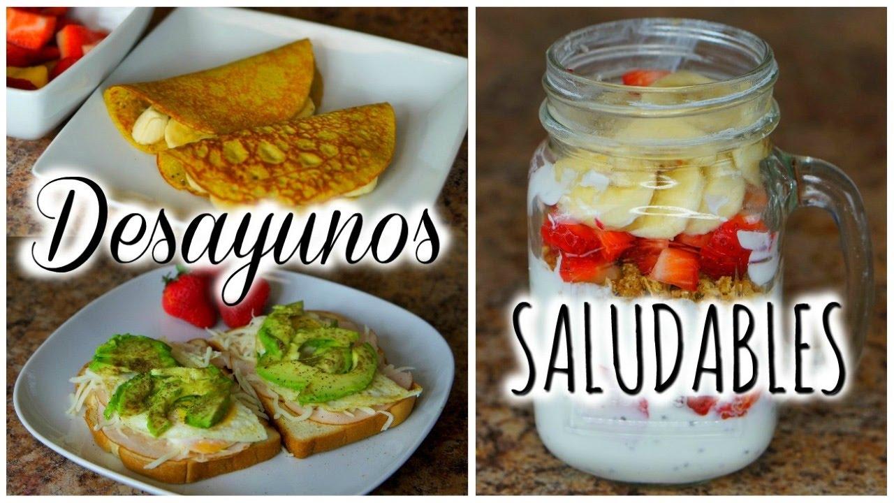 Recetas para desayunos saludables y faciles