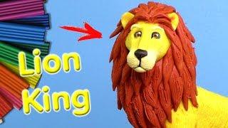 КОРОЛЬ ЛЕВ ИЗ ПЛАСТИЛИНА| Lion King Видео Лепка