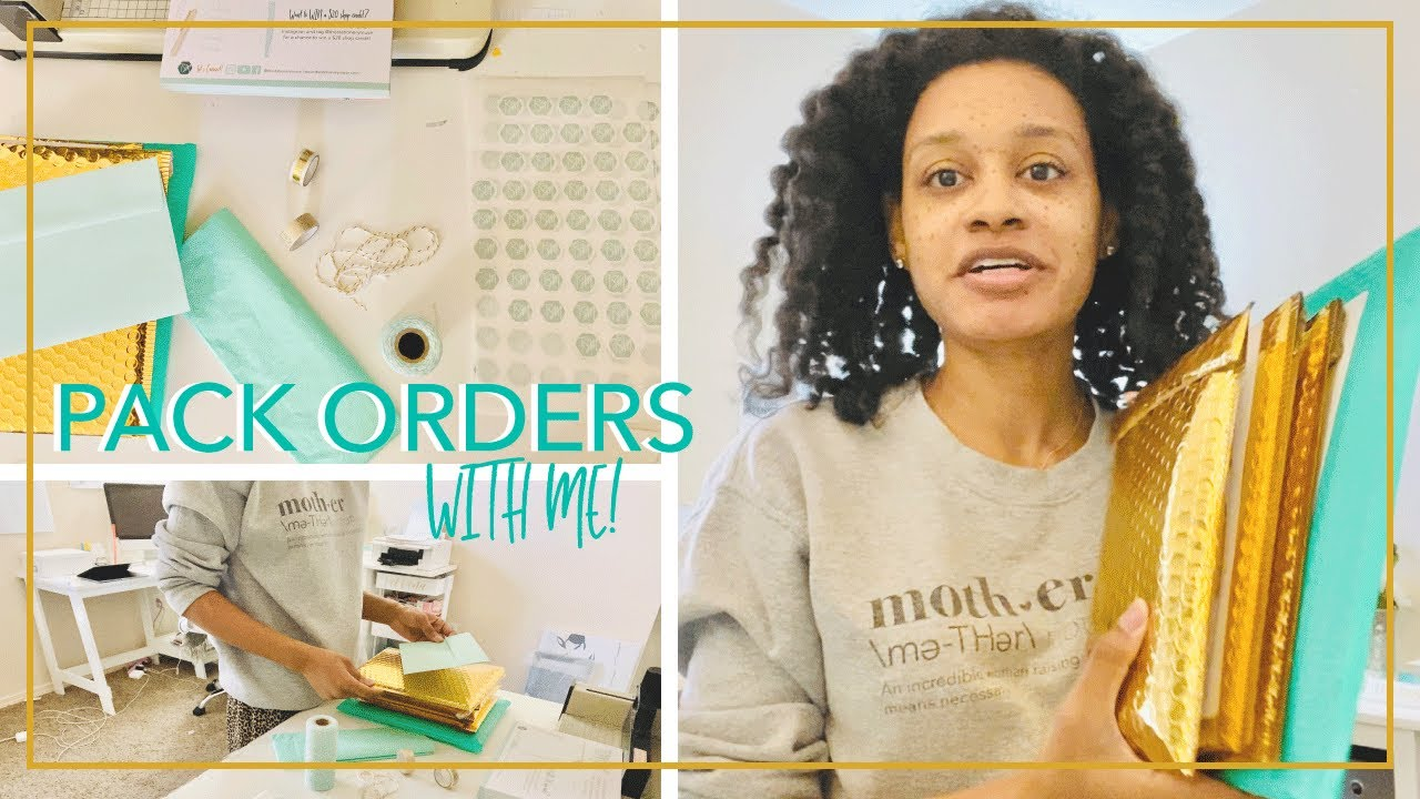 Pack Orders With Me | How I Process, Pack, and Ship Orders | Stationery Business Packaging