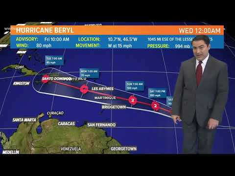 Watching Hurricane Beryl and Invest 96L