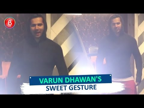 Varun Dhawan's Sweet Gesture For Photographers Will Melt Your Heart