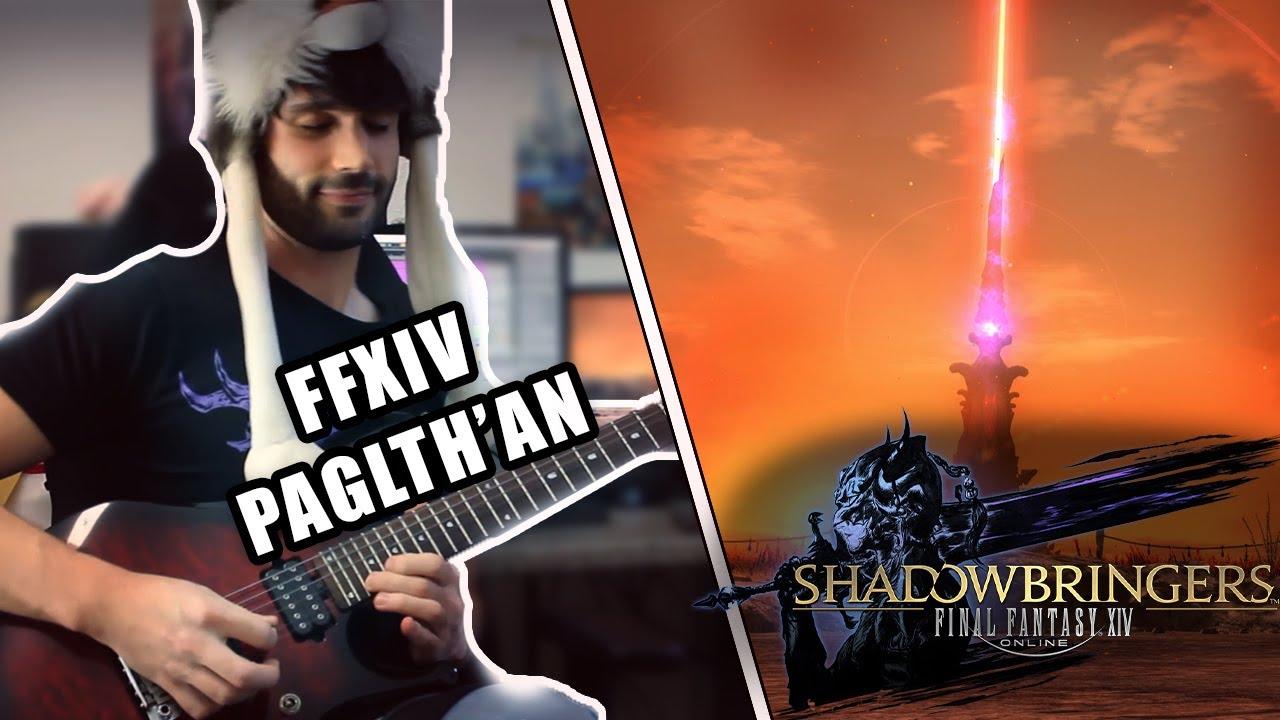 Final Fantasy XIV Shadowbringers - Paglth'an on Guitar