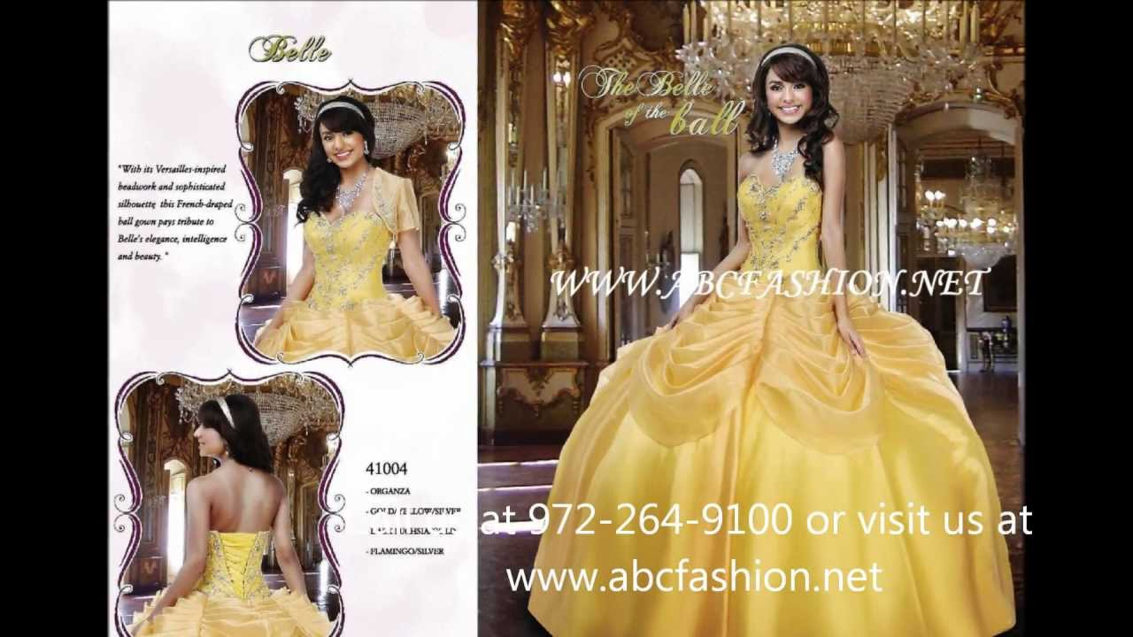 41004 Belle Disney Royal Ball Quinceanera Dress in Yellow ...