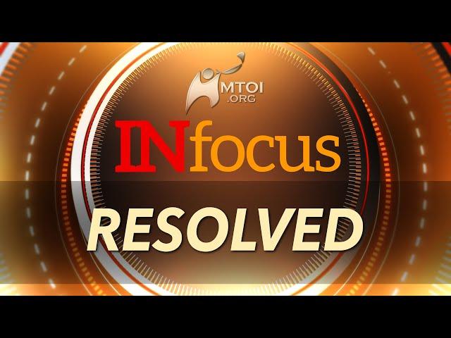 INFOCUS | Resolved