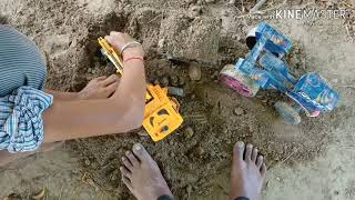 Tractor and machine toys video sarabhjeet Singh channel te