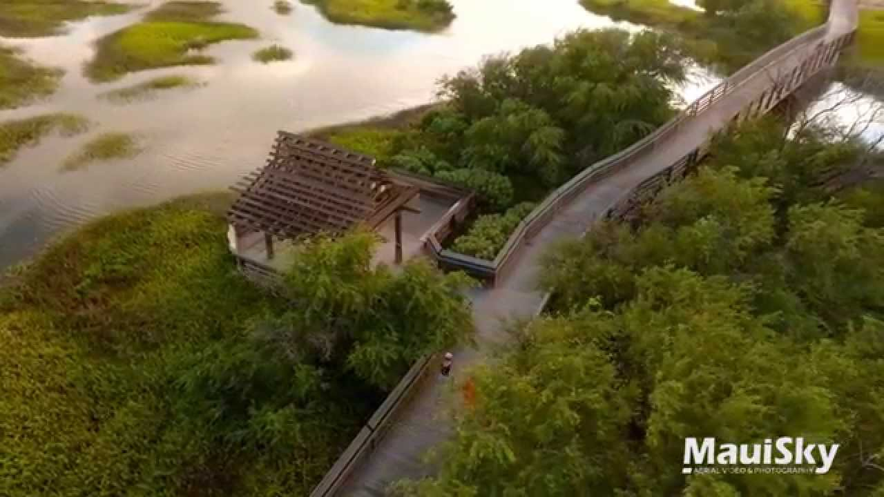 Keālia Pond Maui Hawaii Aerial Tour by MauiSky - YouTube