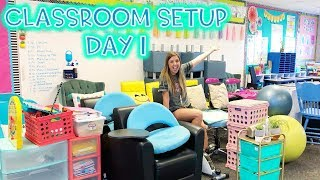 FLEXIBLE SEATING CLASSROOM SETUP: DAY 1