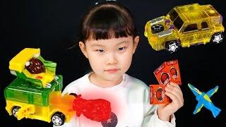 고브 & 제트 터닝메카드 W 시즌2 변신 로봇 자동차 공룡 디스크캐논 장난감 놀이 LimeTube & Toy 라임튜브