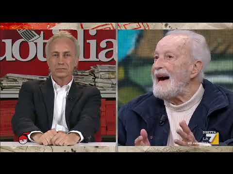 Eugenio Scalfari e Marco Travaglio si confrontano sull'attualità politica