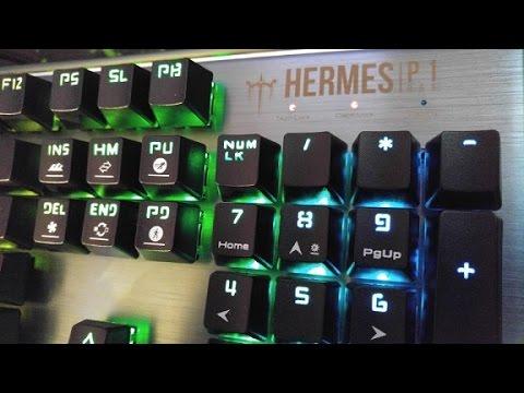 f2f6a8b329d Metal Frame Gamdias Hermes P1 RGB Mechanical Gaming Keyboard Review -  YouTube
