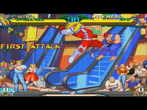 [HD] - Fightcade - Marvel Super Heroes Vs Street Fighter - Kamote(PHIL) Vs Jeff(USA)