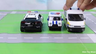 Мультик про машинки - 193 серия:  Полицейская погоня, Гоночная машина, Авария, кабриолет