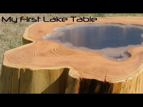 """My wooden coffee table: """"The Lake Table"""""""