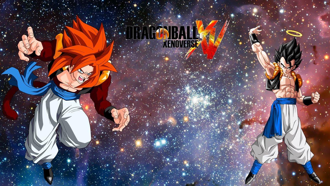 Dragonball Xenoverse: Gogeta base form vs. Gogeta Ssj4 - YouTube