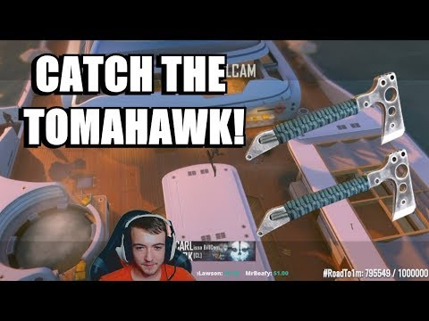 HE CAUGHT THE TOMAHAWK ACROSS THE MAP!