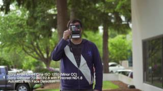 Checking autofocus of objects and face detection in 4k video mode (...