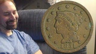 USA 1 Cent 1851 Coin