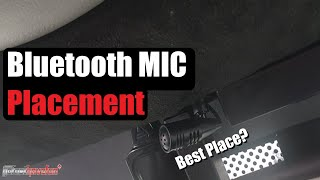 Bluetooth Microphone / Mic Installation and Placement | AnthonyJ350