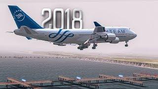 Low Visibility Dangerous Landing | Near ZERO Visibility | New Flight Simulator 2018