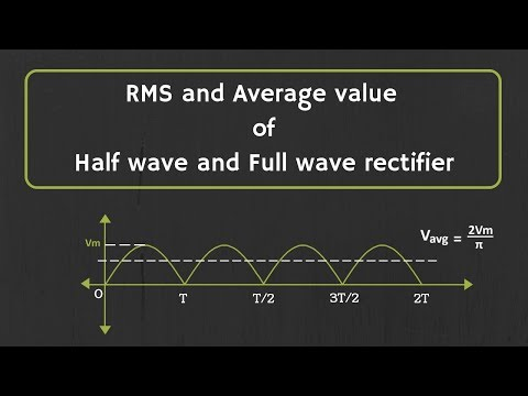How To Calculate The RMS And Average Value Of Half Wave Rectifier And Full Wave Rectifier