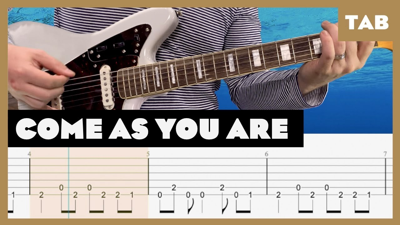 Come As You Are (Full Step, 1/2 Step, and Standard) Nirvana Cover   Guitar Tab   Lesson   Tutorial