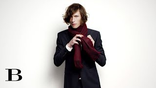How to tie a Scarf – The Cravat, from Burberry