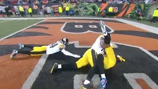 Le'Veon Bell Crazy TD w/ Wrestling Celebration! | Steelers vs. Bengals | NFL