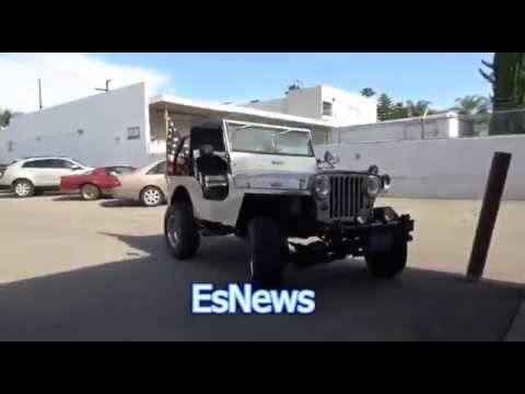Boxing Trainer Got An Awesome Jeep From 1948!!!! EsNews Boxing