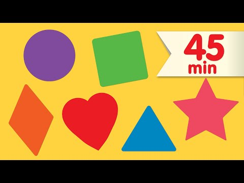 Shape Songs + More | Nursery Rhymes | Super Simple Songs