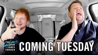 Ed Sheeran Carpool Karaoke: First Look - Late Late in London